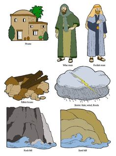 The Wise Man & The Foolish Man – Cranial Hiccups Bible Stories For Kids, Jesus Stories, Bible For Kids, Flannel Board Stories, Flannel Boards, Man Crafts, Church Crafts, Wise Men, Scripture Study