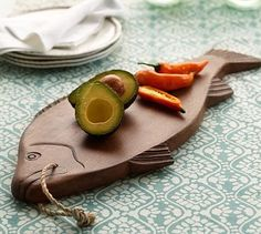 Carved Fish Cutting Board #potterybarn Funky fun for the beach house