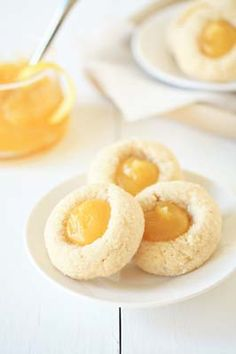 Lemon Cookies - need to use my mom's thumbprint cookie recipe for these. My mom loved Lemon cookies. Easy Sugar Cookies, Lemon Cookies, Sugar Cookies Recipe, Yummy Cookies, Cupcake Cookies, Cupcakes, Cookies Soft, Jam Cookies, Lemon Desserts