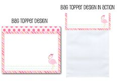 treat bag toppers, pink flamingo party, bag toppers, printable party decor, pink flamingos, flamingo party