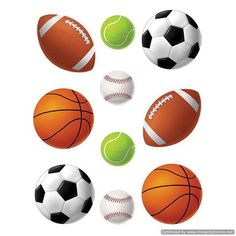 Sports Balls Accents (TCR4086) Use this decorative artwork to dress up classroom walls and doors, label bins and desks, or accent bulletin boards. 6 each of 5 designs. 30 accents per pack. Teacher Created Resources