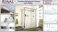 Single Sliding Door Shower enclosure   Reversible Door - Can be fitted to slide open from either right or left side Polished Chrome Frame 6mm Clear Safety Tempered Glass - CE and BS6206 approved.