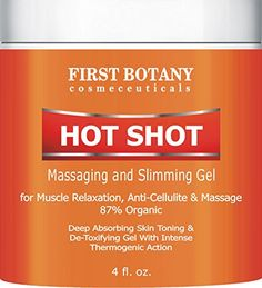 Hot Shot Slimming Gel and Massaging Gel 4 fl oz Great for Muscle Relaxation and Massage Best Anti Cellulite Cream With Intense Thermogenic Action ** Visit the image link more details.
