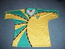 304b57965 1996 1997 Jamaica Football Shirt Top Jersey Reggae boyz Rasta Adults XL Old Football  Shirts