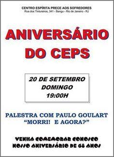 CEPS Convida para o seu  Aniversário de 68 Anos - Bangu - RJ - http://www.agendaespiritabrasil.com.br/2015/09/19/ceps-convida-para-o-seu-aniversario-de-68-anos-bangu-rj/
