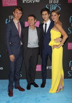 """Pin for Later: Les comédiens de """"The Fault in Our Stars"""" se sont tous retrouvés à l'avant-première du film à NY !  Willem Dafoe et ses partenaires à l'écran"""