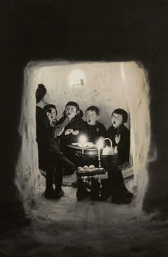 © Hiroshi Hamaya - Children singing in a snow cave, Niigata Prefecture, Japan 1956
