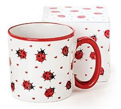 Adorable Ladybug Coffee Mug Inexpensive Gift Item : Amazon.com : Kitchen & Dining