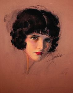 Rolf Armstrong 1930 Portrait of Evelyn Brent