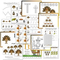 Thanksgiving Preschool Activity Packs - Amy's Wandering