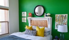 7 Ways to Fake a Headboard | A headboard can give your bedroom a more polished, finished look. But if you haven't gotten around to buying one (or can't afford the splurge), why not make your own? Take a look at these DIY headboard ideas that range from easy to advanced.