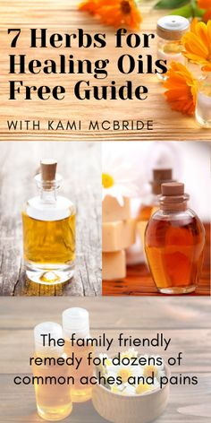 Kami 7 Herbs for Healing Oils - FREE guide by Kami McBride, well-know herbalist and herbal educator Natural Cough Remedies, Natural Health Remedies, Herbal Remedies, Lemon Body Scrubs, How To Make Oats, Herb Recipes, Herbal Oil, Healing Oils, Cleaning Recipes