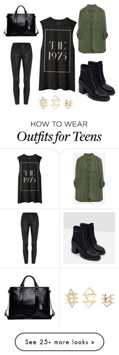 """""""Untitled #12"""" by stephcaruso on Polyvore featuring Zara, Charlotte Russe, women's clothing, women, female, woman, misses and juniors"""