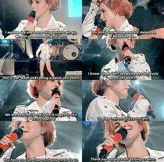 Hayley's speech in the middle of a concert The IHeart radio festival in 2014