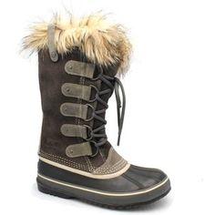 "Sorel ""Joan of Arc"" Waterproof Grey Suede & Rubber Boots"