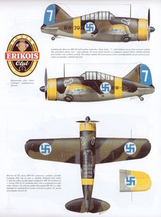 Finnish Air Force - pin by Paolo Marzioli Luftwaffe, Ww2 Aircraft, Military Aircraft, Finland Air, Brewster Buffalo, Finnish Air Force, Ww2 Planes, Parasol, Aircraft Pictures