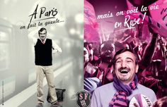 « A Paris on est snob mais on sait se lâcher », la nouvelle campagne de communication du stade Français, créée en collaboration avec l'agence Comquest,