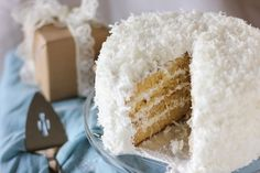 Moist Fluffy Coconut Cake > Willow Bird Baking