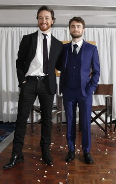 Daniel Radcliffe Photos - James McAvoy and Daniel Radcliffe attends the Jameson Empire Awards 2015 at Grosvenor House, on March 2015 in London, England. Hot Actors, Actors & Actresses, Hollywood Actresses, James Mcavoy Michael Fassbender, Victor Frankenstein, Men's Fashion, Outfit Trends, Liam Hemsworth, Marvel