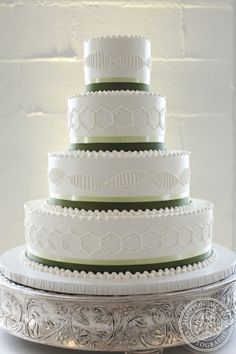 Something simple like this for my half of the cake, just have maybe gold for the icing design?  The other half would have circuit board designs