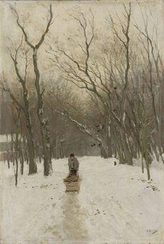 Anton Mauve - Winter in the Scheveningen Woods
