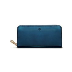 Zip Around Wallet in Midnight Blue Mirror Metallic Leather | family | Mulberry