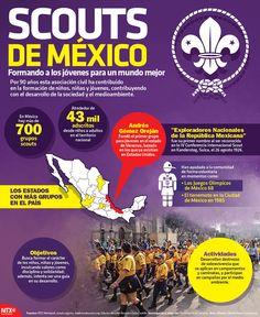 Por 90 años los Scouts de México han ayudado a la formación de niños, niñas y jóvenes, contribuyendo con el desarrollo de la sociedad y el medioambiente. #InfografíaNotimex