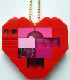 LEGO heart collectible Single thickness Model par MademoiselleAlma, $29.99