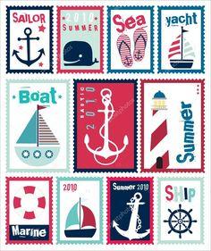 Znalezione obrazy dla zapytania stamps design illustrator