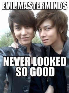 Does anyone else think world domination when they look at this? #Heechul #Kyuhyun