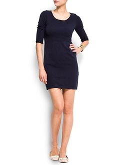 MANGO - CLOTHING - Three quarter sleeves dress
