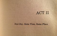 Waiting For Godot, Samuel Beckett