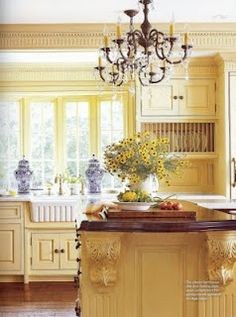 French Country Kitchen Blue And Yellow blue and yellow kitchen | kitchen redo | pinterest | kitchens