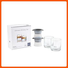 Schott Zwiesel Ultimate Whiskey with 2 Double Old Fashioned Bar/Cocktail Glasses Paired with 2 Large Sphere Ice Molds, Clear - Improve your home (*Amazon Partner-Link)