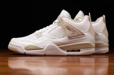 Look For The Air Jordan 4 GS Linen Later This Week