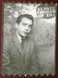 """** Vintage Photo Booth Picture **   """"Always Thinking of You"""" ..... although clearly not that happy about it."""