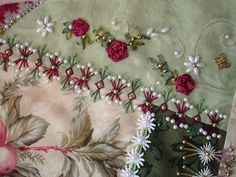 crazy quilting and ribbon embroidery