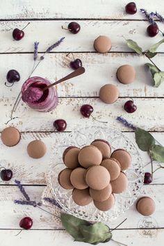 macarons-chocolate-curd-cerezas-cherry-cherries