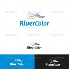 River Color Logo Template — Vector EPS #wave #print • Available here → https://graphicriver.net/item/river-color-logo-template/2274865?ref=pxcr