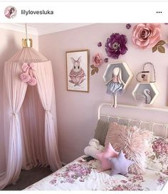 Adorable Millennial Pink Home Decor Ideas For My Rose Gold Dream House On A Budget Page 61 of 82 is part of Toddler bedrooms Here are adorable pink and rose gold home decor for living room, - Pink Bedroom Decor, Pink Home Decor, Baby Bedroom, Dream Bedroom, Room Baby, 4 Year Old Girl Bedroom, Girl Toddler Bedroom, Baby Girl Bedroom Ideas, Girls Bedroom Canopy