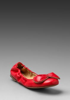 SEE BY CHLOE Clara Ballet Flat in Red