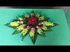 Cắm Hoa Oval Để Bàn Đơn Giản - YouTube Flower Arrangements Simple, Funeral, Floral Wreath, Make It Yourself, Flowers, Decorations, Videos, Youtube, How To Make Crafts