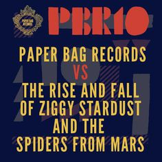 Paper Bag Records vs. The Rise and Fall of Ziggy Stardust and the Spiders from Mars David Bowie covers album.