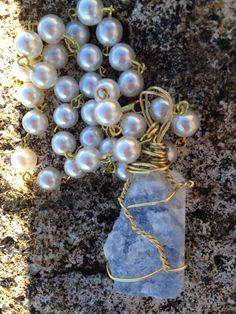 Rough Natural Blue Sapphire Necklace Long Pearl by GirlyCutie #natural #sapphire #gemstone #handmade #vintage #pearls #vintage_pearl #long_necklace #jewelry #handmade #handcrafted #gold_wire #unique #gorgeous #fashion #amazing #sale #beautiful #stylish #modern #cool