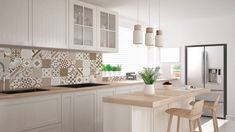 New kitchen white brick backsplash 23 ideas White Kitchen Sink, Kitchen Island Decor, Kitchen Colors, New Kitchen, Kitchen Ikea, Layout Design, Küchen Design, Design Ideas, Best Kitchen Designs