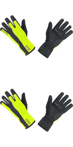 Hats Caps and Headbands 158994: Gore Bike Wear Mens Power Soft Shell Windstopper Gloves Black/Neon Yellow -> BUY IT NOW ONLY: $69.18 on eBay!