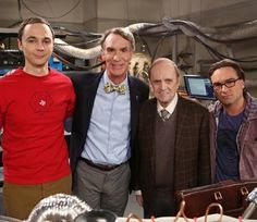 The Big Bang Theory BEST. PICTURE. EVER. #billnye #bobnewhart