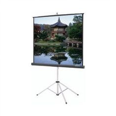 "Da-Lite Carpeted Picture King Matte Gray 106"" Diagonal Portable Projection Screen"