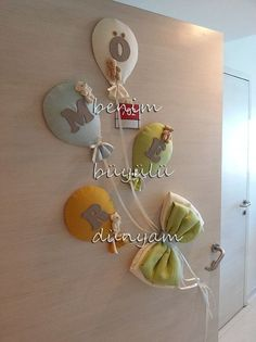 Blush and Grey Nursery for a Sweet Baby Girl – Just Simply Mom – Colorful Baby Rooms Baby Crafts, Felt Crafts, Diy And Crafts, Baby Shawer, Baby Love, Baby Party, Baby Shower Parties, Baby Door Decorations, Baby Elefant