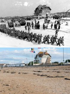 """Have you ever wondered what Europe looked like before or during the Second World War (WWII)? Take a look at our """"before and after"""" or """"then and now"""" images and see. Syria Before And After, Before After Photo, Before And After Pictures, Herbert Von Karajan, Canadian Soldiers, American Soldiers, Monuments, Paris In September, Rome Pictures"""